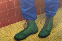 Green Boots, Yellow Floor