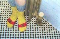Self Portrait with Yellow Socks